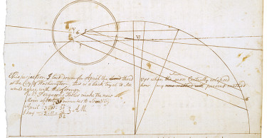 Z24.3299MS2700 Bannaker JournalBenjamin Bannaker, 1791 Diagram of eclipse on April 3, 1791
